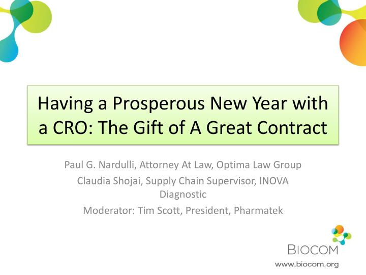 having a prosperous new year with a cro the gift of a great contract n.