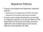 nepotism policies