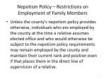 nepotism policy restrictions on employment of family members3