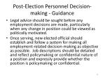 post election personnel decision making guidance6