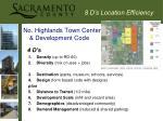 8 d s location efficiency