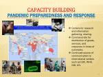 capacity building pandemic preparedness and response