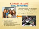 capacity building social networking