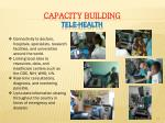 capacity building tele health