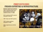 prepositioned proven expertise infrastructure