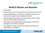 mohltc mission and mandate