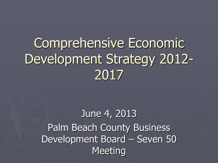 comprehensive economic development strategy 2012 2017 n.