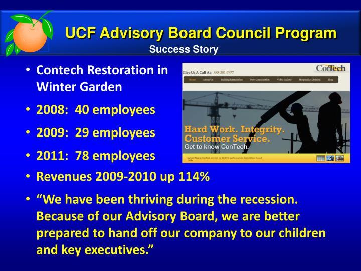 UCF Advisory Board Council Program
