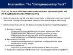 intervention the entrepreneurship track