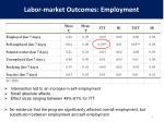 labor market outcomes employment