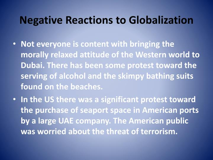 Negative Reactions to Globalization