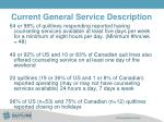 current general service description