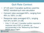 quit rate context