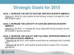 strategic goals for 2015