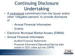 continuing disclosure undertaking
