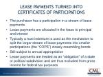 lease payments turned into certificates of participations