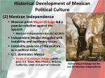 historical development of mexican political culture1