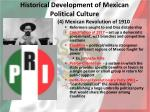 historical development of mexican political culture3