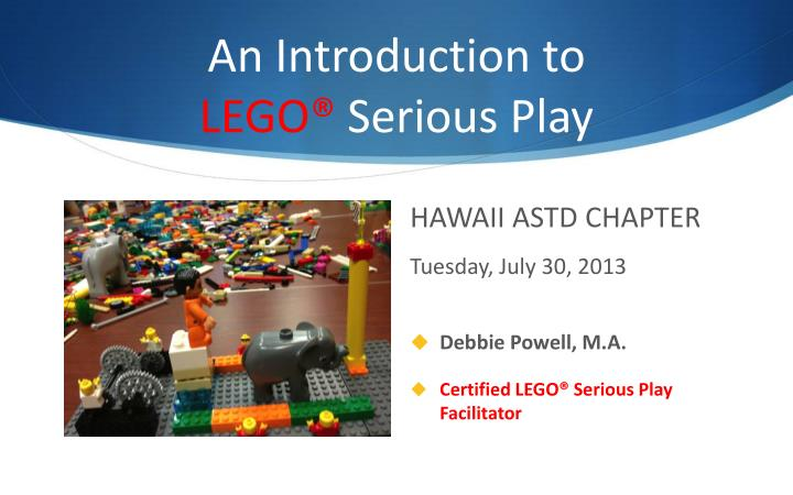 an introduction to lego serious play n.