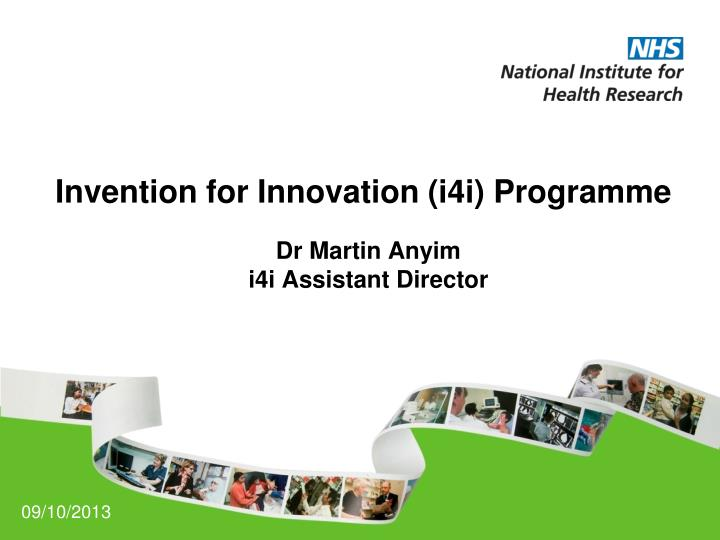 invention for innovation i4i programme n.