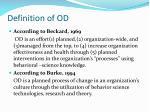 definition of od
