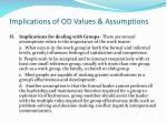 implications of od values assumptions1