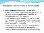implications of od values assumptions2