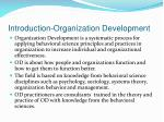 introduction organization development