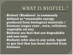 what is biofuel