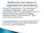 outline the four phases in organizational development1