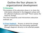 outline the four phases in organizational development4