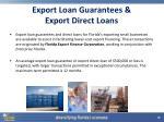 export loan guarantees export direct loans