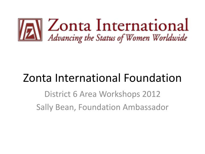 zonta international foundation n.