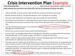 crisis intervention plan example