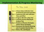 implementation progress monitoring