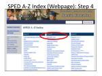 sped a z index webpage step 4