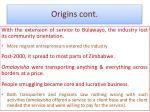 origins cont