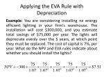 applying the eva rule with depreciation