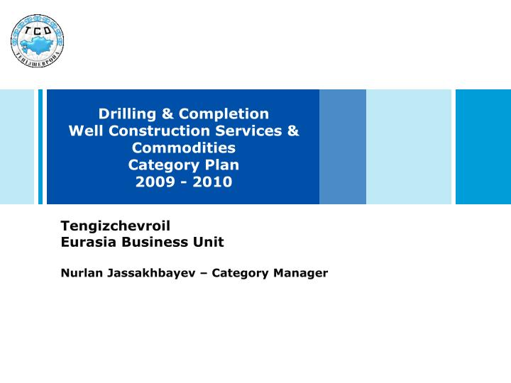 drilling completion well construction services commodities category plan 2009 2010 n.
