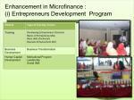 enhancement in microfinance i entrepreneurs development program