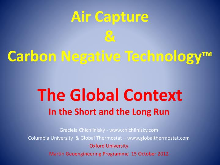 air capture carbon negative technology the global context n.