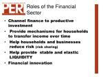 roles of the financial sector4