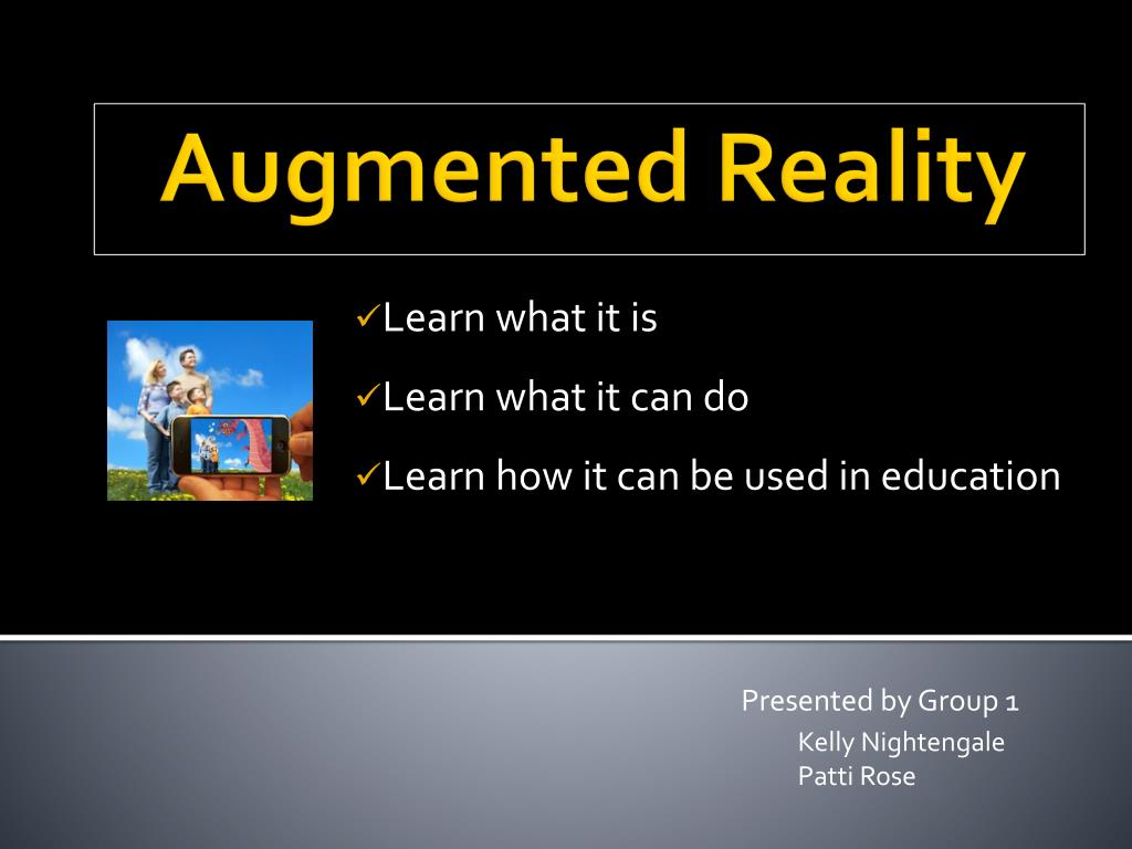 PPT - Augmented Reality PowerPoint Presentation, free download - ID:1663170