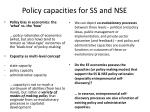 policy capacities for ss and nse