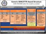 generic sbir sttr award structure don syscoms tailor this model as needed