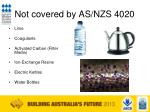 not covered by as nzs 4020