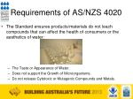 requirements of as nzs 4020