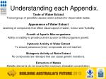 understanding each appendix