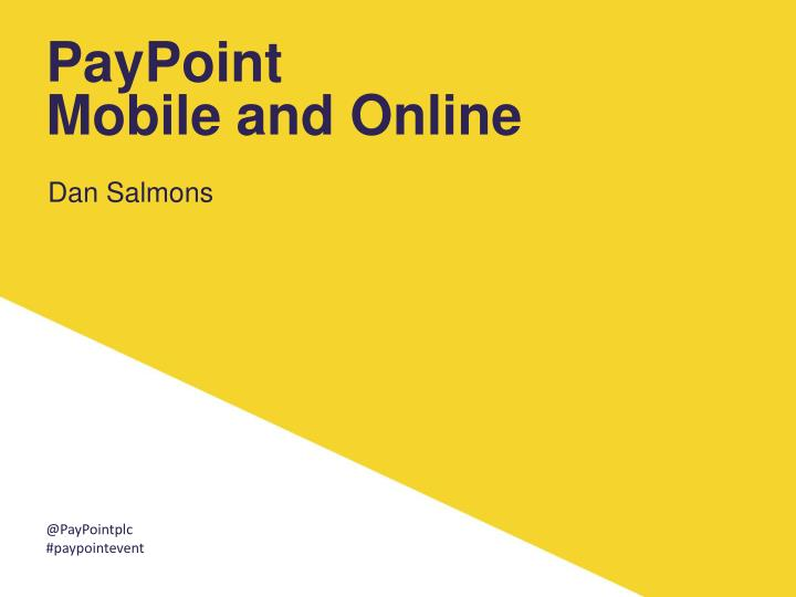 paypoint mobile and online n.