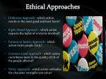 ethical approaches